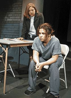 Laura Chavez (standing) and Jackie Billotte foresee  the end in Unmerciful Good Fortune.