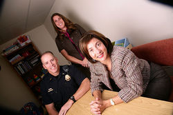 Steve Addison (from left), Jennifer Corvalan and Lilas Rajaee-Moore are changing the way Denver deals with addicts.