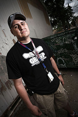 Johnny Santos, an outreach worker with the Gang Rescue and Support Project, likes that GRID brings all agencies to the table.