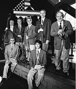 The Jim Cullum Jazz Band blows into town this  weekend.