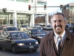 "Street smarts: Denver Department of Public Works manager Bill Vidal wants to change the way traffic flows through Denver's ""travel sheds."""
