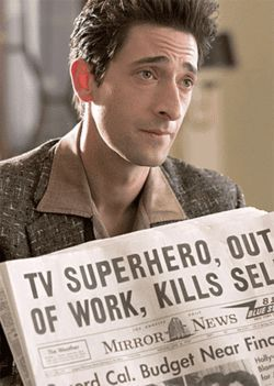 Adrien Brody keeps his eye on Superman in  Hollywoodland.