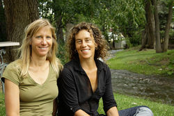 Diane Israel (right) with her partner, Lindsey Hansen-Sturm.