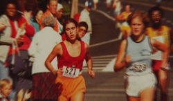 The young Diane Israel (left) excelled at road races, but they almost destroyed her health.