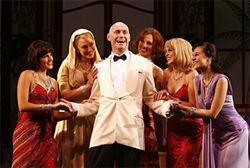 Jamie Jackson does his best at being bad in Dirty Rotten Scoundrels.