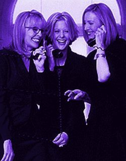 Sister act: Diane Keaton (left), Meg Ryan and Lisa Kudrow string us along.
