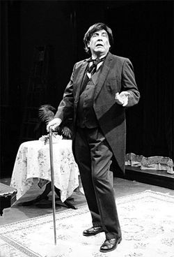 Ed Baierlein as an aging Oscar Wilde in Diversions and Delights.
