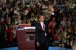 Barack Obama accepts the nomination.