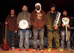 Dean Curtis (from left), Cory Eberhard, Jamal Skinner, Jason Wieseler and Phil Salvaggio are Dubskin.