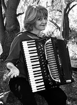 Mama's got a squeezebox: Cheri Thurston and her  Petosa.