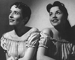 They enjoy being Ranch Girls: Mary Lou (left) and Mary Ann dream of their Ragtime Wranglers.