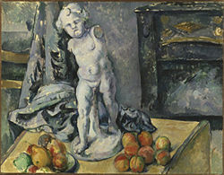 """Still Life With Statuette,"" by Cézanne, oil on canvas."