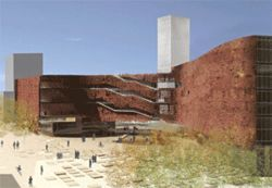 Steven Holl's design for Denver's never-to-be-built  courthouse.
