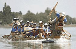 Dragon boats are a sign of the season.