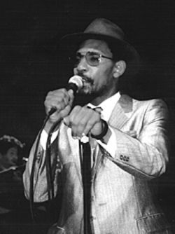 Top-notch poet, Jamaican-born writer and musician Linton Kwesi Johnson.