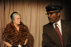 Billie McBride and Dwayne Carrington in Driving Miss Daisy.