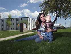 Amy Hess-Kibben and her family lived at the Dunes for two and a half years.
