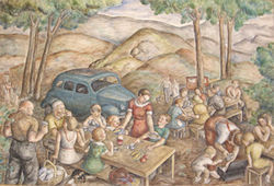 """Mountain Picnic,"" by Louise Emerson Rönnebeck, oil on canvas."