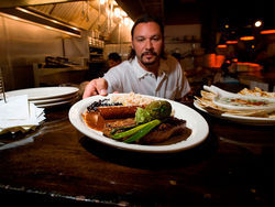 Chef Sean Yontz and his steak Tampiqueña at El Diablo. Slide Show: El Diablo photo tour
