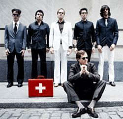 Electric Six tries not to wrinkle its party clothes.