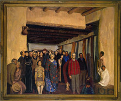 """Ourselves and Taos Neighbors,"" by Ernest Blumenschein, oil on canvas."