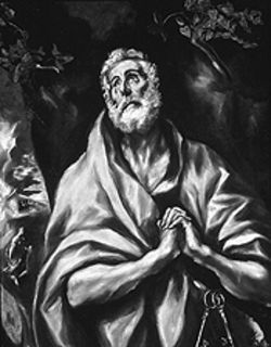 &quot;The Repentant St. Peter,&quot; by El Greco, oil on canvas.