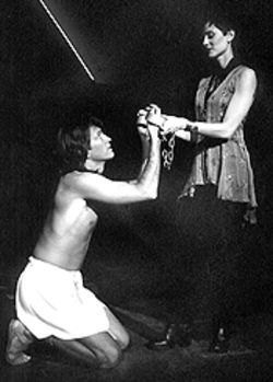 Charles Langley and Beth Malone in Joseph and the Amazing Technicolor Dreamcoat.