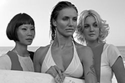 Angelic triptych: Lucy Liu, Cameron Diaz and Drew  Barrymore in Charlie's Angels: Full Throttle.