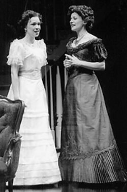 Elizabeth Bunch and Gordana Rashovich in The Little Foxes.