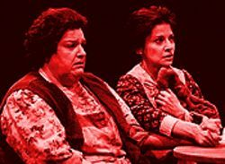 Auntie climactic: Kathleen M. Brady and Gordana Rashovich in The Cripple of Inishmaan.