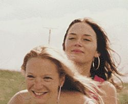Gal pals: Natalie Press and Emily Blunt get close in    My Summer of Love.