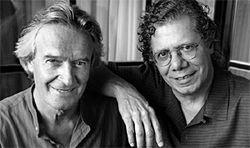 Miles to go: John McLaughlin and Chick Corea.