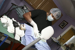 Dr. Jason Cordeiro performs tomcat surgeries at the Rocky Mountain Alley Cat Alliance.