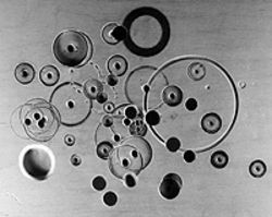 """Circle Study,"" by James Milmoe, silver print."