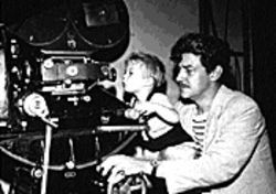 Director Preston Sturges at work.