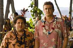 Jonah Hill advises Jason Segel in Forgetting Sarah Marshall.