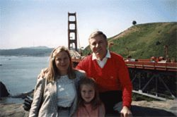 Debbie, Heather and Duncan Cameron on a family trip 