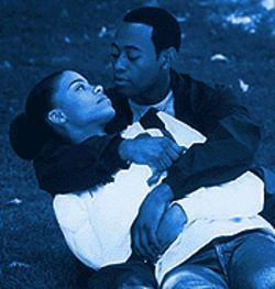 Dribble drivel: Sanaa Lathan and Omar Epps net themselves some romance in Love & Basketball.