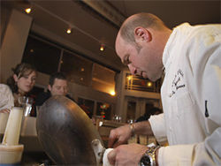 Chef/owner Frank Bonanno is hands-on at Bones.