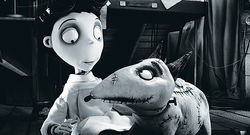 Director Tim Burton reanimates animation in Frankenweenie.