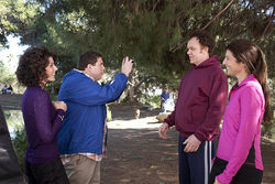 Marisa Tomei (from left), Jonah Hill, John C. Reilly and Catherine Keener in Cyrus.