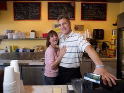 Roxanne and Sergio Negrin have made Frijoles Colorado Cuban Cafe a family affair. Photos: In the kitchen at Frijoles Colorado Cuban Cafe