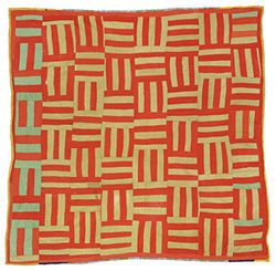 """Basket Weave,"" by Nettie Jane Kennedy, corduroy quilt."