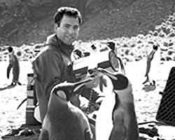 John Mans on location in Antarctica.