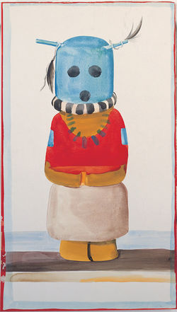 """Blue-Headed Indian Doll,"" by Georgia O'Keeffe, watercolor and graphite. For more photos: Denver Art Museum's Georgia O'Keeffe exhibit showcases her time in New Mexico"