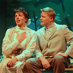 Gina Wencel and Brian Landis Folkins in The Eccentricities of a Nightingale.