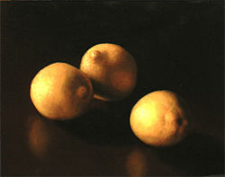 """Lemons,"" by Laurel Swab, oil on panel."