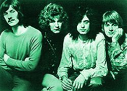 Flying high: John Bonham, Robert Plant, Jimmy Page and John Paul Jones back when Led Zeppelin was first taking off.