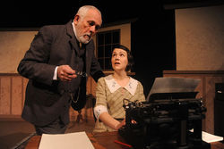 Jim Hunt and Laura Norman in Ghost-Writer.