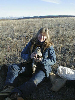 Biologist Jessica Young helped list the Gunnison sage grouse as a separate species.